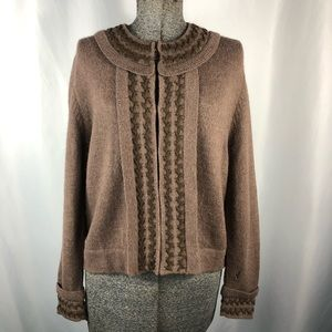 Peruvian Connection Brown Wool Sweater